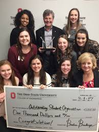 college recognizes the work of outstanding student organizations the society of women engineers swe received the overall outstanding organization and diversity enhancement awards