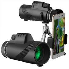 <b>40X60 HD High</b> Power Monocular Day & Night Vision Dual Focus ...