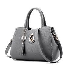 <b>Leather</b> Look <b>Shoulder</b> Handbag <b>Elegant</b> Design Top Handle ...