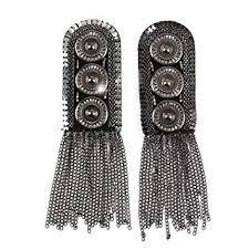 Pomeat 1 Pair Tassel Chain <b>Metal</b> Epaulettes <b>Shoulder Boards Badge</b>