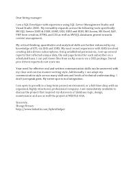resume cover letter dear hiring manager  s manager resume  sql developer cover letter padasuatu resume itamp39s a kind