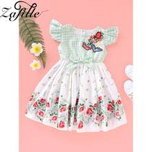 ZAFILE Summer Floral Flare Sleeve Dress Baby Girl Clothes Kids ...