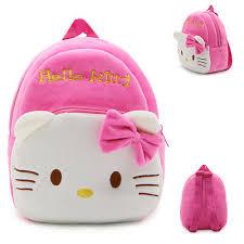 Girls <b>Backpack</b> Plush <b>Kindergarten Bag</b> Kid's HELLO <b>KITTY</b> ...