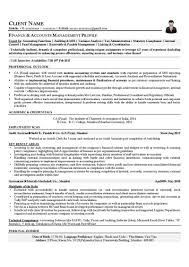 resume samples cv template cv sample finance accounts management profile