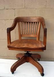 vintage oak office chair antique oak office chair