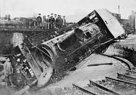 russian revolution a locomotive overturned by striking workers at the main railway depot in tiflis in 1905