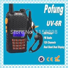 <b>DHL freeshipping</b>+<b>New</b> radio walkie talkie Pofung UV6R vhf uhf ...