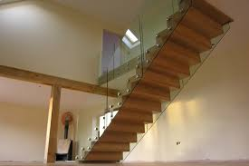 stairs balustrade railings bespoke glass staircase