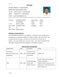 good sample job resume   spaceresumecv comimage good sample size  good sample resume