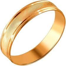Золотое обручальное парное <b>кольцо Эстет 01O710410</b> — купить ...