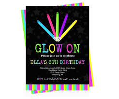 amazing neon party invitations party ideas hq neon party invitations neon glow birthday party invitations kids personalized