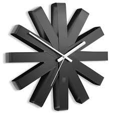 <b>Часы настенные</b> Umbra <b>Ribbon чёрныe</b>