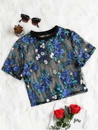 [30% OFF] [<b>HOT</b>] 2019 <b>Floral Embroidered</b> See Through Mesh ...