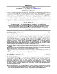 Sample Hr Resume  combination resume sample human resources