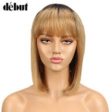 <b>Debut</b> Wigs For Black Women <b>Straight</b> Human <b>Hair</b> Wigs <b>Brazilian</b> ...