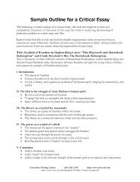 critique essay outline cover letter examples of evaluation essay examples of website