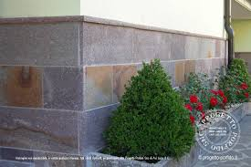 Zoccolo Esterno In Pietra : Rivestimento muri progetto porfido snc