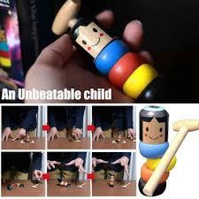 <b>1set Immortal</b> Daruma Unbreakable Wooden Man Magic Toy Magic ...
