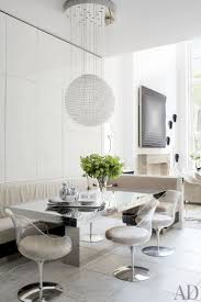 set dining table decorist in a new york townhouse modern lucite chairs accent a mirrored dining