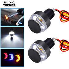 2Pcs <b>Motorcycle</b> Handlebar <b>Turn</b> Signal <b>LED</b> Light <b>12V Motorbike</b> ...