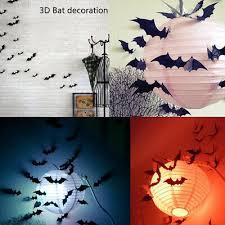 4543 12pcs <b>Halloween Bat</b> Ornament Haunted House Bathroom ...
