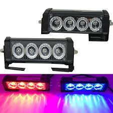 <b>2PCS 4 LED</b> Car <b>Strobe</b> Warning Light Truck Motorcycle 12V <b>LED</b> ...
