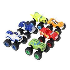 Amazon.com: Yuly Toys Car <b>Set 6Pcs Blaze</b> Vehicles Racer Cars ...