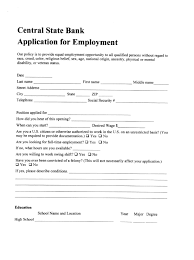 csb employment application central state bank