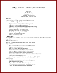 15 good resume examples for college students sendletters info resume example college graduate accounting resume example page 1