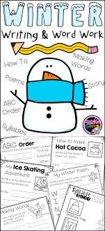 images about Daily   on Pinterest Make writing fun this winter with these winter writing and word work pages  Activity pages