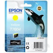 <b>Epson</b> T7604 <b>Картридж Yellow</b> (Желтый) (C13T76044010) — в ...