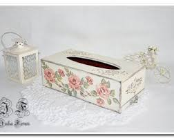 dog faces ceramic bathroom accessories shabby chic: wooden tissue box napkin box decoupage rose box kitchen vintage decor original kitchen box tissue box cover shabby chic box napkin holder