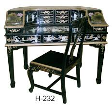 black mother of pearl desk asian office furniture