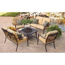 garden outdoor patio rectangle fire outdoor conversation set  piece aluminum garden patio furniture with f