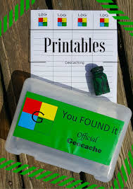 geocache printable logs signs geocache printable logs signs recycling container ideas