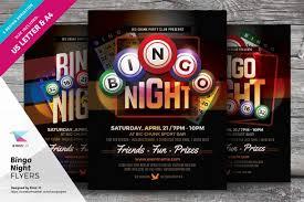 bingo night flyer templates flyer templates on creative market