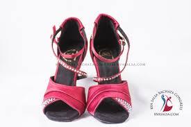 Burgundy With <b>Rhinestones</b> Ladies Salsa/<b>Latin Dance</b> Shoe ...