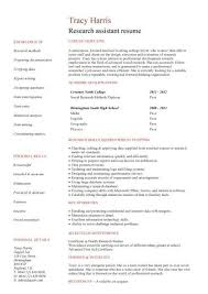 research assistant cv sampleno work experience research assistant resume