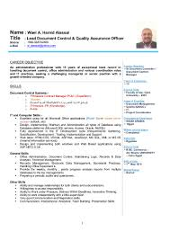 wael cv lead document control quality assurance officer
