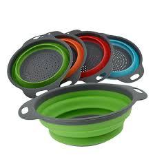 <b>1PC Silicone</b> Folding Drain Basket 5 Colors Creative <b>Silicone</b> ...