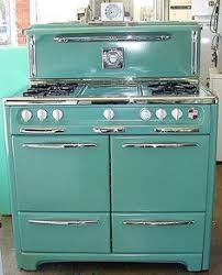 vintage kitchen appliance retro appliances: green o keefe and merrit stove