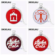 <b>XKXLHJ New Fallout Nuka</b> Cola Necklace llavero Glass and Alloy ...