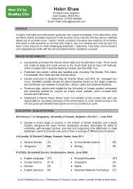 cv examples uk and worldwide sample cv page 1