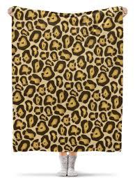 <b>Плед флисовый 130</b>×<b>170</b> см Шкура ягуара #2980973 – купить ...
