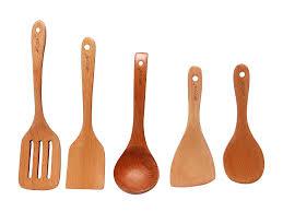 kitchen utensil: amazoncom akcook cfcj cooking tools  piece wood kitchen utensils kitchen amp dining