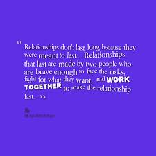 Quotes from Jobert Bolanos: Relationships don't last long because ... via Relatably.com
