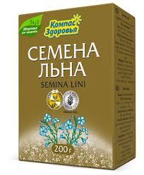 <b>Семена</b> льна <b>Компас Здоровья</b> пищевые 200 г — купить по ...