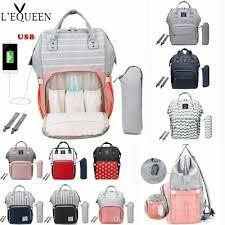 <b>LEQUEEN Fashion</b> USB <b>Mummy Maternity</b> Diaper Bag Large ...
