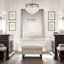 fascinating bathroom crystal chandelier small