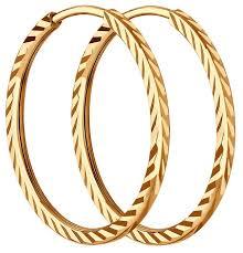 <b>SOKOLOV Серьги</b> конго из <b>золота</b> с алмазной гранью 140011 ...